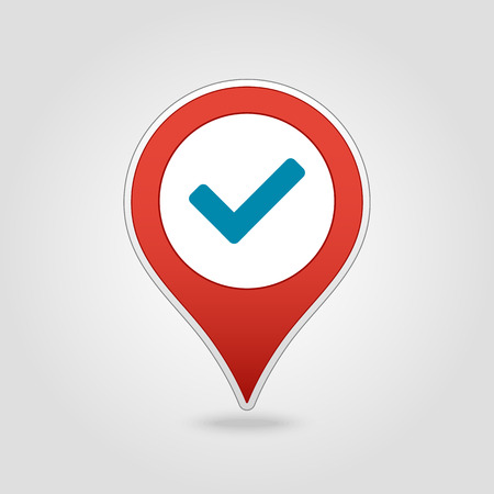 Check pin map icon. Map pointer. Map markers. Vector illustration Banque d'images - 102492526