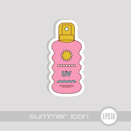 Sun Cream in Spray vector icon. Beach. Summer. Summertime. Vacation, eps 10