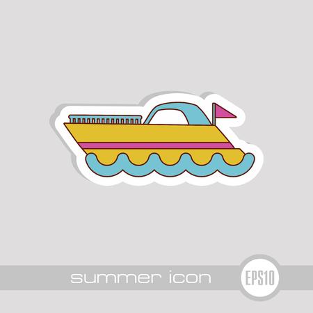Ship Boat vector icon. Beach. Summer. Summertime. Vacation, eps 10