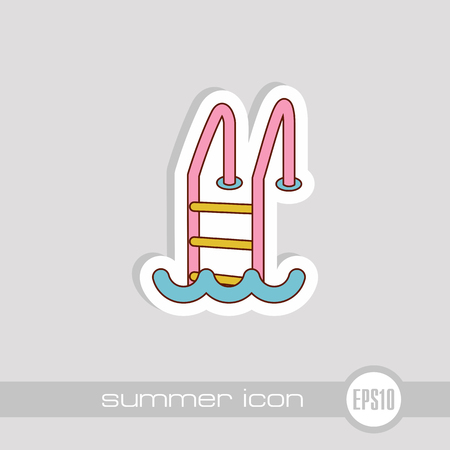 Swimming pool vector icon. Beach. Summer. Summertime. Vacation, eps 10 Ilustração