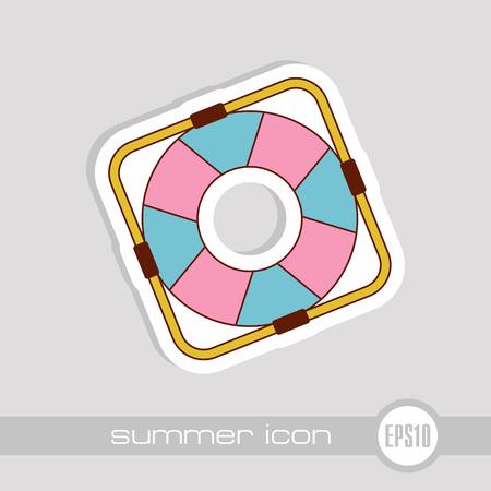 Lifebuoy vector icon. Beach. Summer. Marine. Summertime. Vacation, eps 10
