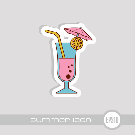 Cocktail vector icon. Beach. Summer. Summertime. Holiday. Vacation, eps 10 向量圖像