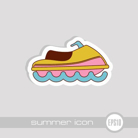 Jet Ski vector icon. Beach. Summer. Summertime. Vacation, eps 10