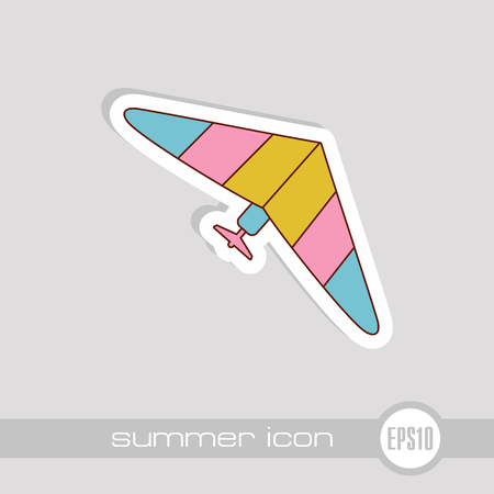 Hang Glider vector icon. Travel. Summer. Summertime. Holiday. Vacation, eps 10 Banque d'images - 103411691