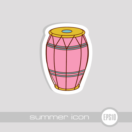 Drum vector icon. Beach. Summer. Summertime. Vacation, eps 10