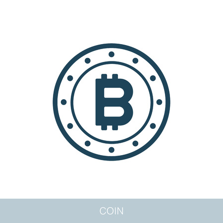 Bitcoin flat icon. Vector design of blockchain technology, bitcoin, altcoins, cryptocurrency mining, finance, digital money market