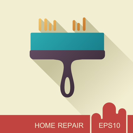 Putty knife tool icon. Construction, repair and building vector design and illustration