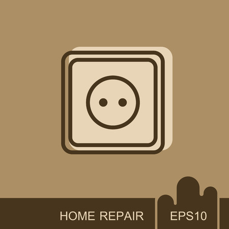 Electric outlet icon. Construction, repair and building vector design and illustration Stock Illustratie