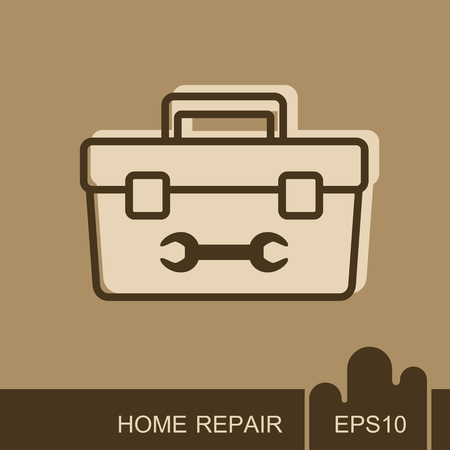 Toolbox icon. Construction, repair and building vector design and illustration Ilustrace