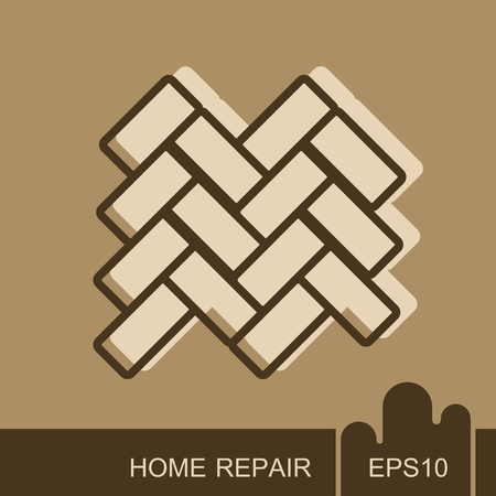 Parquet floor icon. . Interior design and home repair