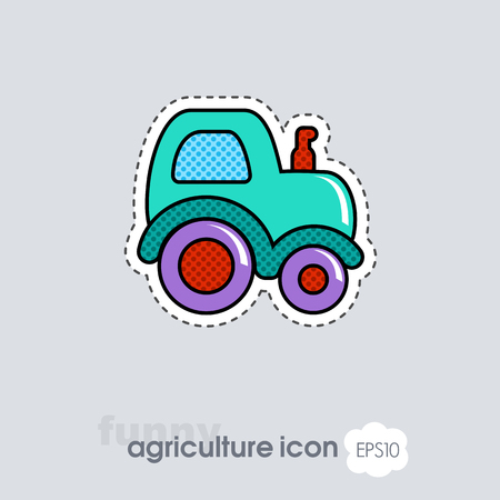 Tractor icon. Farmer machine. Agriculture sign. Graph symbol for your web site design, logo, app, UI. Vector illustration, EPS10.