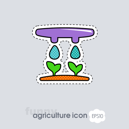 Drip irrigation system icon. Agriculture sign. Graph symbol for your web site design, logo, app, UI. Vector illustration, EPS10.