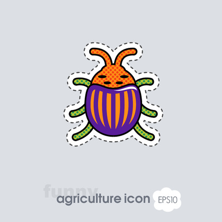 Colorado beetle icon. Agriculture sign. Graph symbol for your web site design, app, UI. Vector illustration. Banque d'images - 122716701
