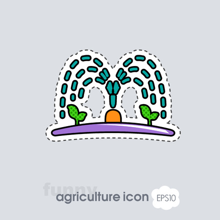 Automatic irrigation sprinkler icon. Agriculture sign. Graph symbol for your web site design, logo, app, UI. Vector illustration, EPS10.