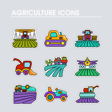 Farm Field icon. Agriculture transport sign. Graph symbol for your web site design, app, UI. Vector illustration