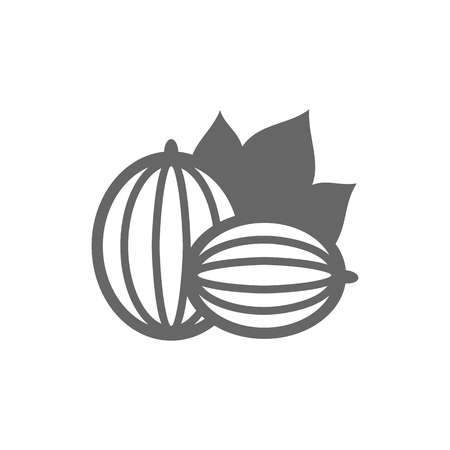 Gooseberry outline icon. Gooseberry berry fruit sign. Vector illustration for food apps and websites