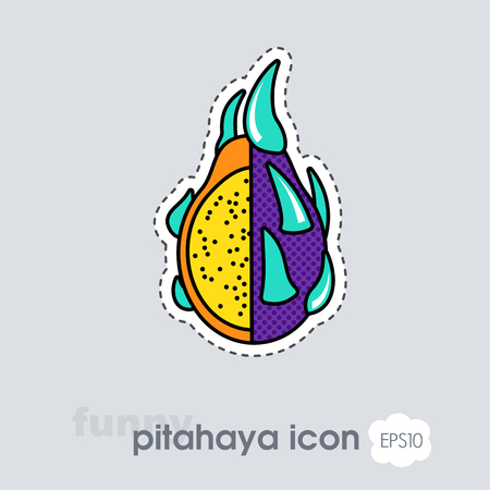 Pitaya icon. Pitaya tropical dragon fruit sign. Vector illustration for food apps and websites