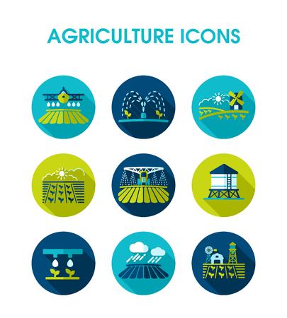 Icono de campo de granja. Signo de agricultura. Símbolo gráfico para el diseño de su sitio web, logotipo, aplicación, interfaz de usuario. Ilustración vectorial EPS10