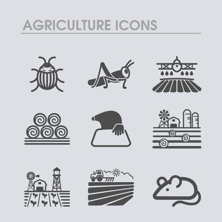 Icône de champ de ferme. Signe agricole. Symbole graphique pour la conception, l'application, l'interface utilisateur de votre site Web. Illustration vectorielle