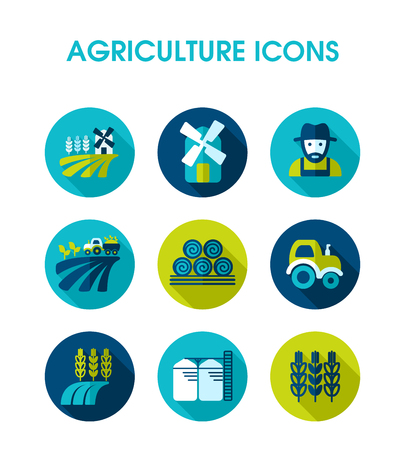 Farm Field icon. Agriculture sign. Graph symbol for your web site design, app, UI. Vector illustration 스톡 콘텐츠 - 123340714