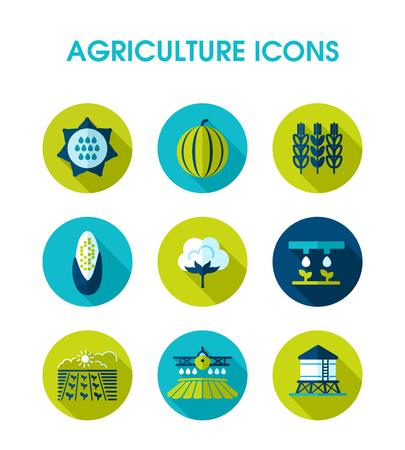 Icono de campo de granja. Signo de agricultura. Símbolo gráfico para el diseño de su sitio web, logotipo, aplicación, interfaz de usuario. Ilustración vectorial EPS10 Logos