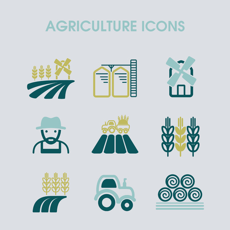 Farm Field icon. Agriculture sign. Graph symbol for your web site design, app, UI. Vector illustration