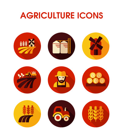 Farm Field icon. Agriculture sign. Graph symbol for your web site design, logo, app, UI. Vector illustration, EPS10