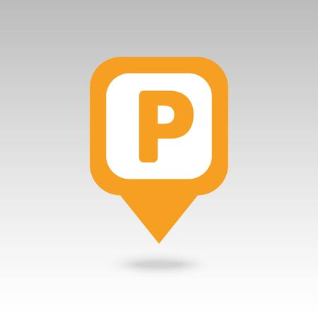 Parking pin map icon. Map pointer. Map markers. Destination vector icon. GPS location symbol.