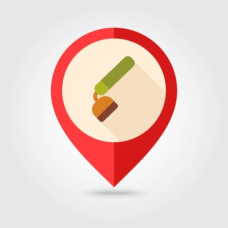 Hoe flat vector pin map icon. Map pointer. Map markers.