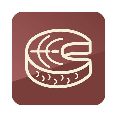 Steak of red fish salmon icon. Farm animal sign. Graph symbol for your web site design, app, UI. Vector illustration