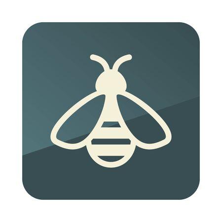 Honey bee icon. Farm animal sign. Graph symbol for your web site design, app, UI. Vector illustration