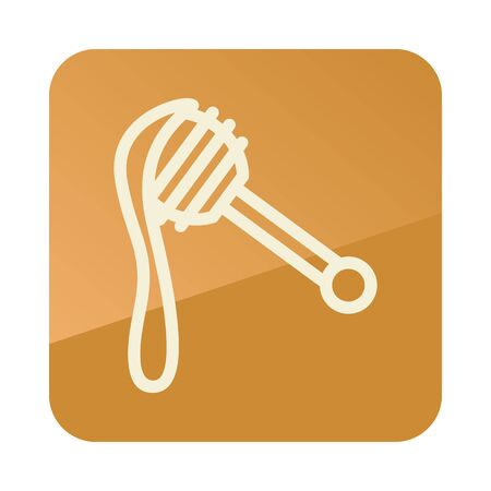 Honey dipper icon. Farm animal sign. Graph symbol for your web site design, app, UI. Vector illustration 向量圖像