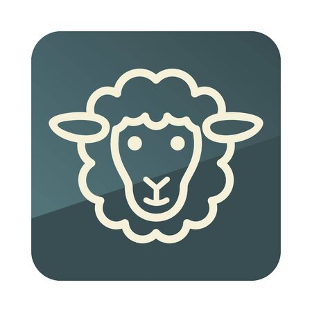 Sheep icon. Animal head. Farm sign. Graph symbol for your web site design, app, UI. Vector illustration