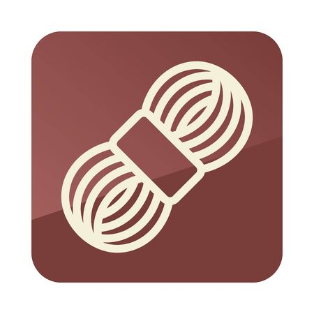 Roll of yarn icon. Farm animal sign. Graph symbol for your web site design, app, UI. Vector illustration