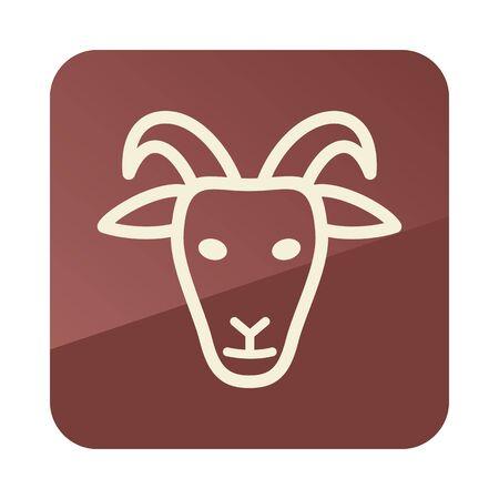 Goat icon. Animal head. Farm sign. Graph symbol for your web site design, app, UI. Vector illustration