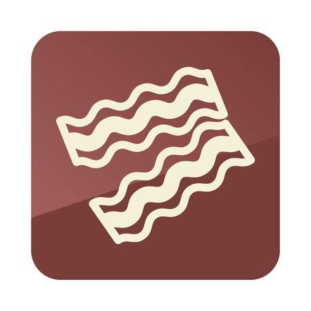 Bacon pieces icon. Farm animal sign. Graph symbol for your web site design, app, UI. Vector illustration
