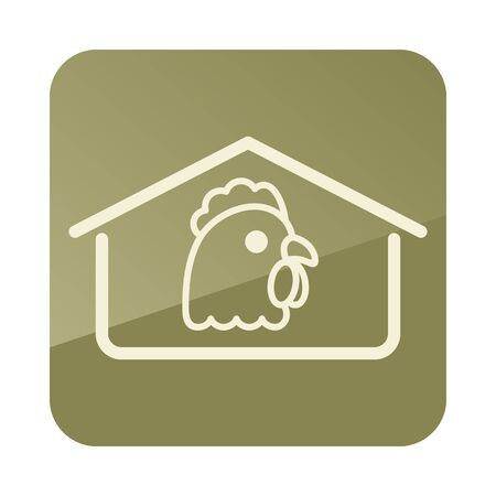 Chicken house icon. Farm animal sign. Graph symbol for your web site design, app, UI. Vector illustration