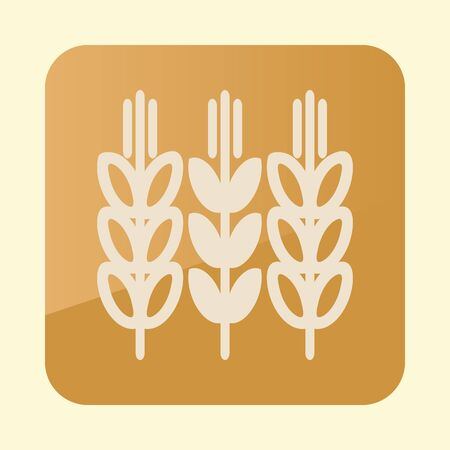 Spikelets and grains of wheat icon.