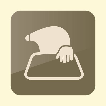 Mole icon for garden craft. Agriculture sign. Иллюстрация