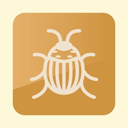 Colorado beetle icon.