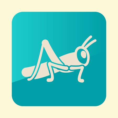 Grasshopper locust icon. Agriculture sign. 일러스트