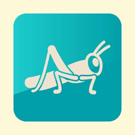Grasshopper locust icon. Agriculture sign. Illustration