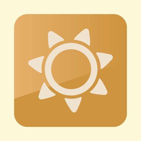 Sun flat icon.