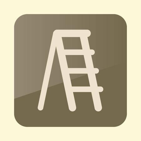 Ladder, stepladder, stair, staircase, stairway icon. Illusztráció