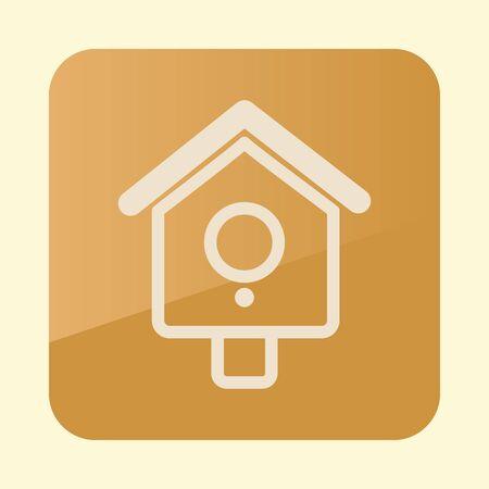 Nesting box, bird-house flat icon. Garden sign. 일러스트