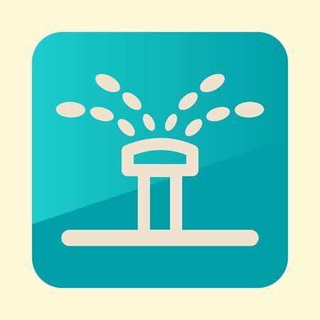 Water sprinkler, irrigation flat icon. Garden sign.