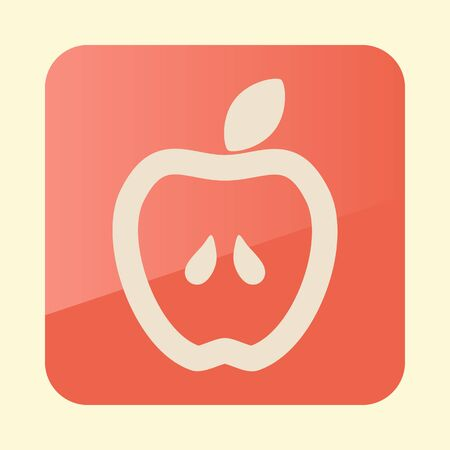 Apple flat icon. Graph symbol for your web site design