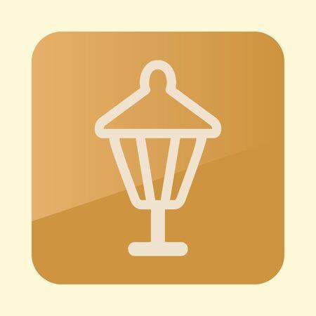 Garden lantern flat icon. Garden sign.