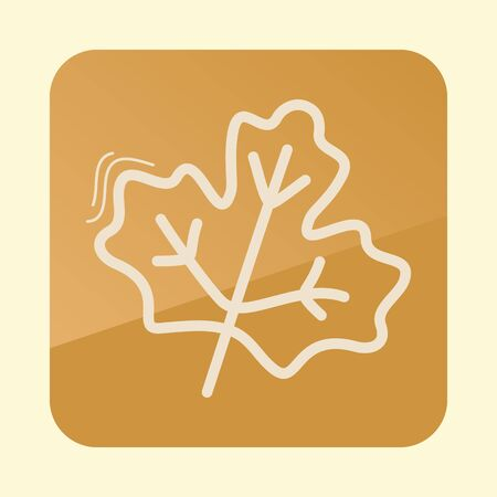 Autumn Leaves maple outline icon. Harvest. Thanksgiving vector
