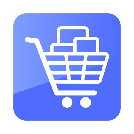 Shopping cart with boxes icon. E-commerce sign. Graph symbol for your web site design,   app, UI. Vector illustration